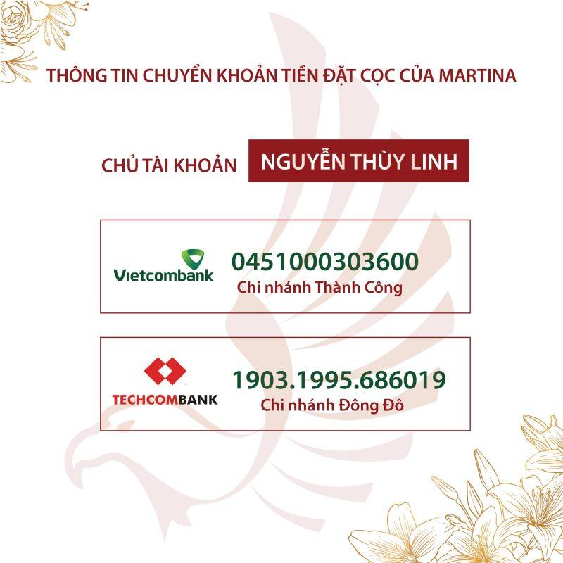 Thông tin thanh toán tại Martina