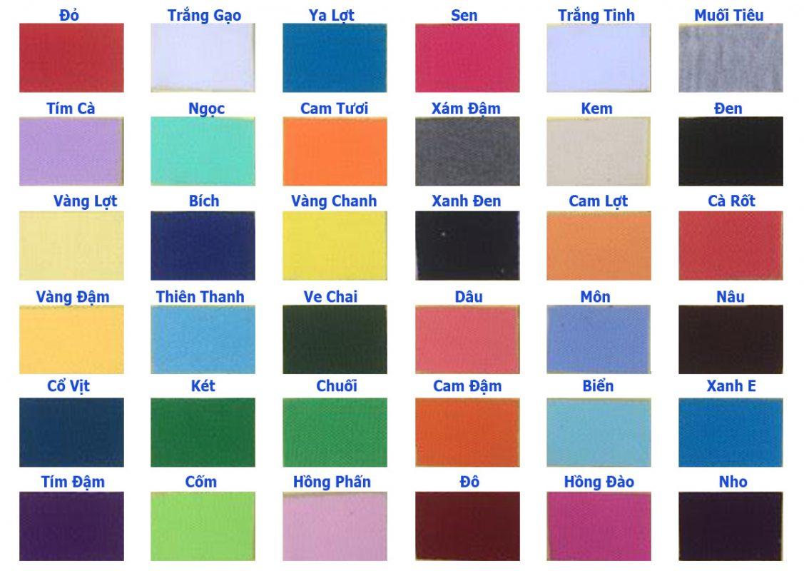 Hình ảnh bảng màu vải thun cotton 4 chiều