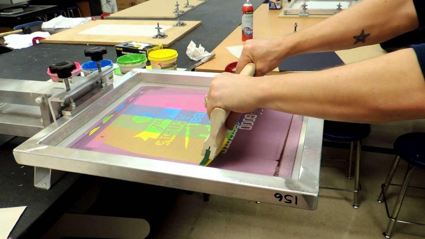 Hình ảnh công nghệ in lụa với màu in tươi sáng