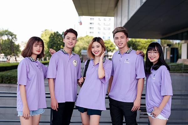 Mẫu đồng phục áo phông oversize có cổ đẹp cho học sinh