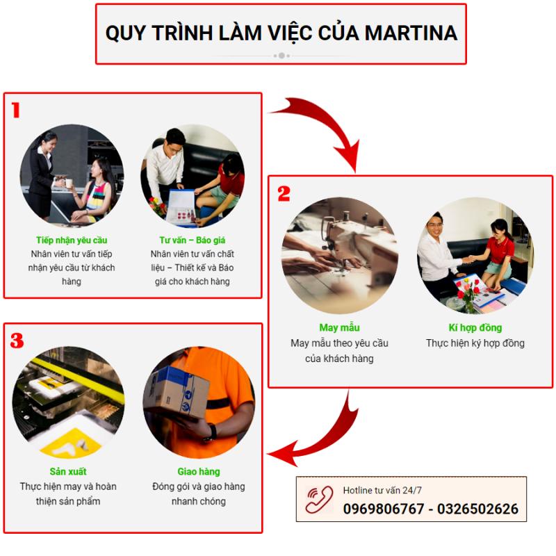 Quy trình đơn giản khi may đồng phục học sinh tại Martina