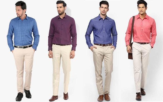 Cách phối đồ quần âu áo sơ mi cực hiện đại