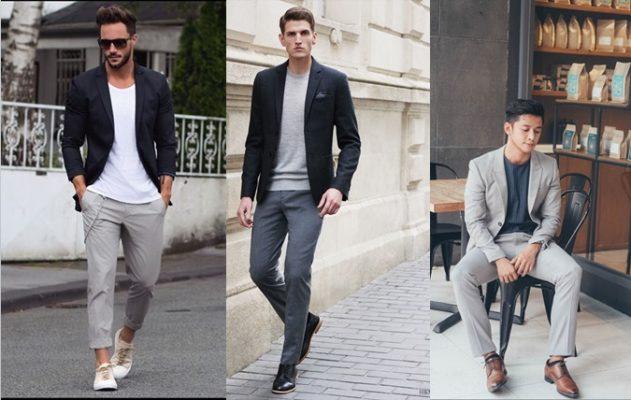 Cách phối đồ quần âu áo khoác cực ấn tượng