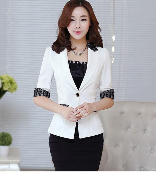 Mẫu áo vest nữ phong cách hàn quốc