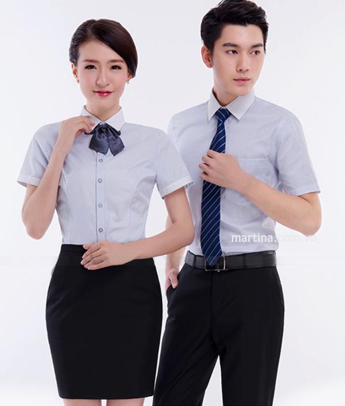 Mẫu đồng phục áo sơ mi ngắn tay được yêu thích nhất