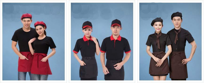 Mẫu áo thun đồng phục phục vụ bàn