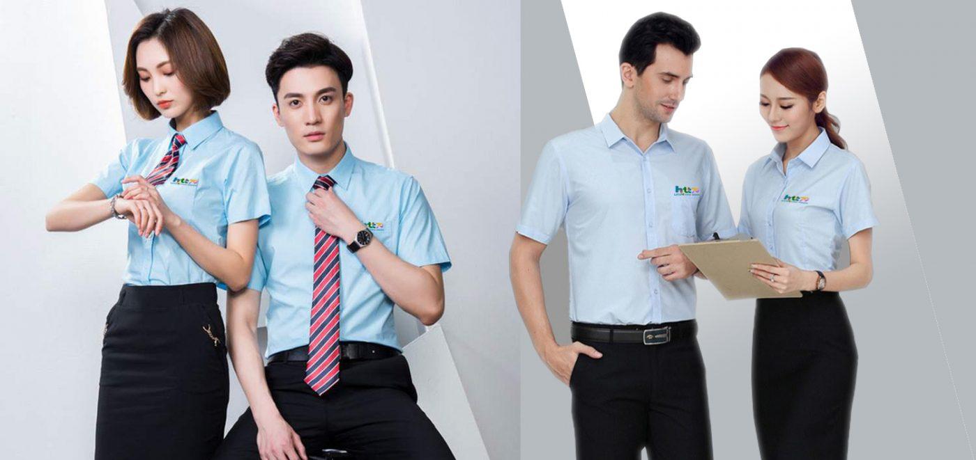 Mẫu thiết kế áo sơ mi đồng phục công sở