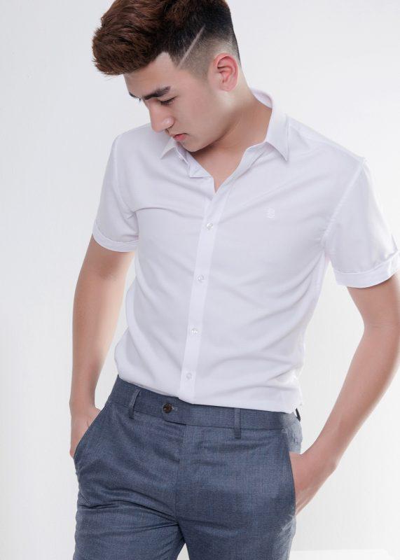 Mẫu đồng phục áo sơ mi nam ngắn tay