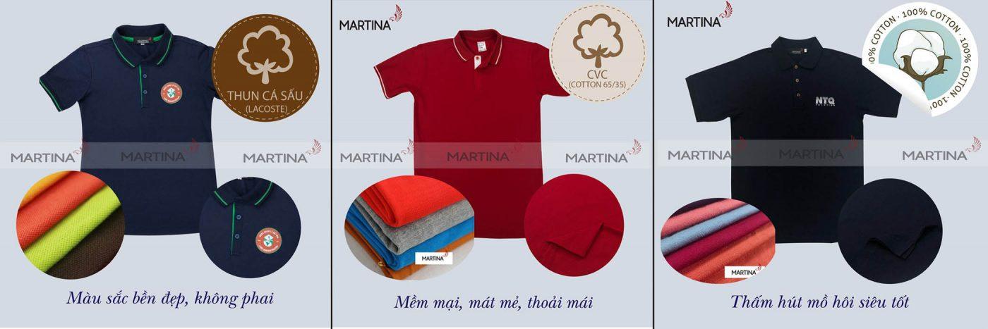 Chất vải thường lựa chọn may áo công ty