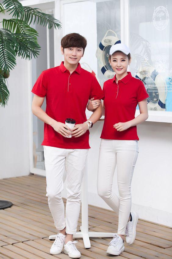 Mẫu áo đồng phục gam màu ấn tượng nhất