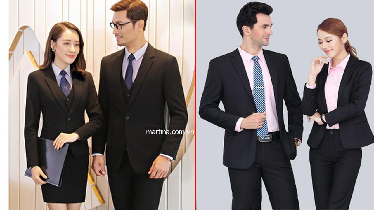 Hình ảnh đồng phục vest sang trọng may tại Martina