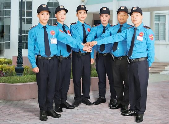 Hình ảnh đồng phục nhân viên bảo vệ đẹp ấn tượng