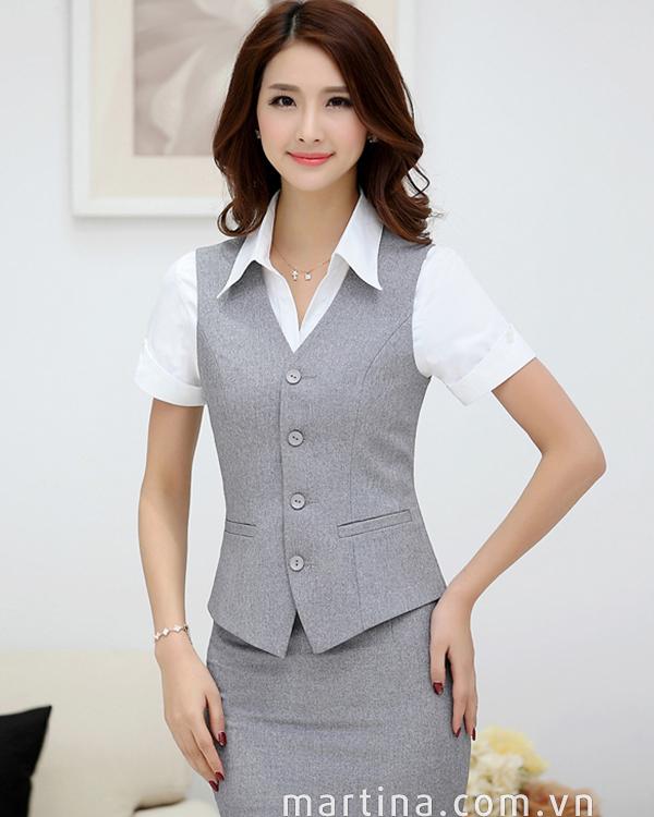 Hình ảnh đồng phục nhân viên nữ chuyên nghiệp