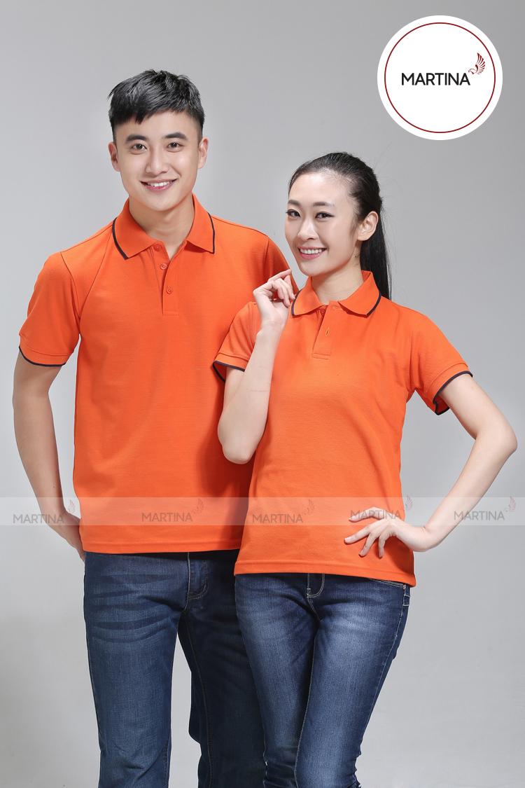 Mẫu áo đồng phục gam màu cam đầy năng động