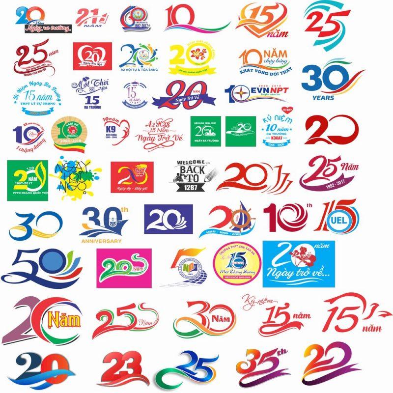 Một số hình ảnh logo thiết kế áo họp lớp hay nhất