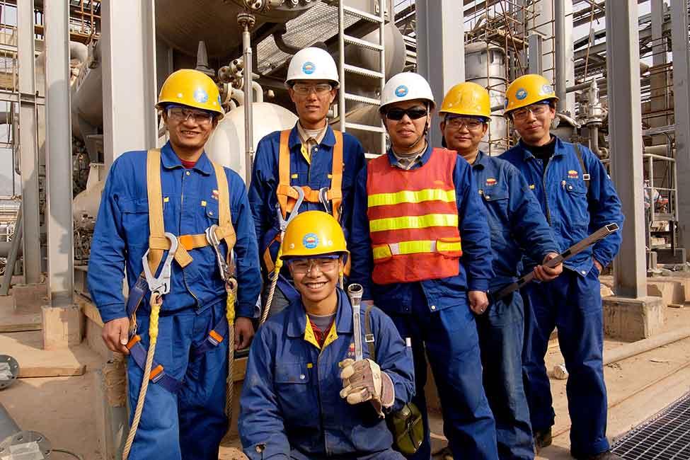 Hình ảnh đẹp về đồng phục công nhân