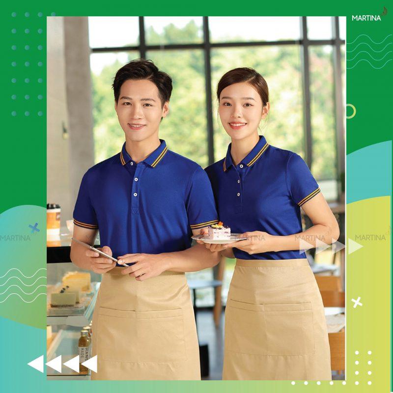 Hình ảnh mẫu áo phông đồng phục cho nhân viên nhà hàng